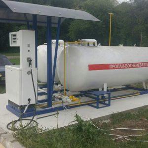 Новая газовая АЗС с двумя ёмкостями по 5 м куб. и 1-но рукавной колонкой